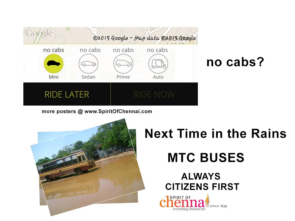 chennai-rains No Ola! Only Buses in Chennai!