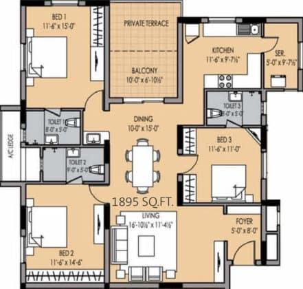 golden-square-floor-plan-floor-plan-915755-441x420 New Apartments Flats in Velachery for Sale