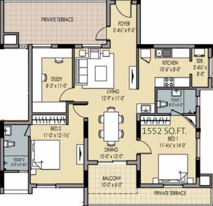 golden-square-floor-plan-floor-plan-915756-434x420 New Apartments Flats in Velachery for Sale