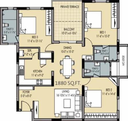 golden-square-floor-plan-floor-plan-915757-446x420 New Apartments Flats in Velachery for Sale