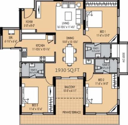 golden-square-floor-plan-floor-plan-915758-430x420 New Apartments Flats in Velachery for Sale