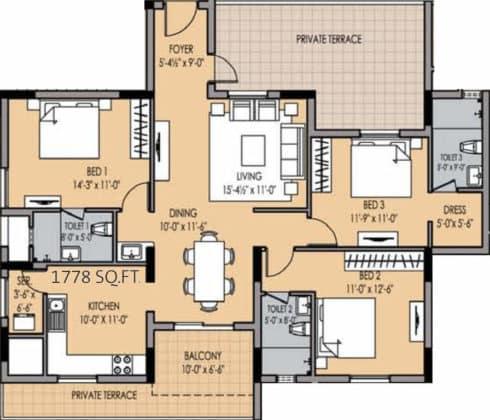 golden-square-floor-plan-floor-plan-915759-490x420 New Apartments Flats in Velachery for Sale