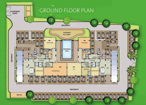 golden-square-golden-square-cluster-plan-for-ground-floor-846778-581x420 New Apartments Flats in Velachery for Sale