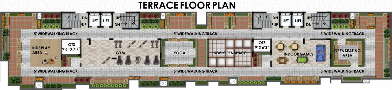 pine-ridge-block-1-and-2-cluster-plan-for-terrace-3933146 New Apartments Flats in Velachery for Sale