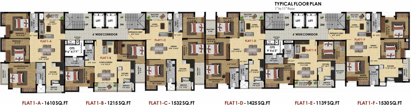pine-ridge-block-1-and-2-cluster-plan-from-1st-to-11th-floor-3933073 New Apartments Flats in Velachery for Sale
