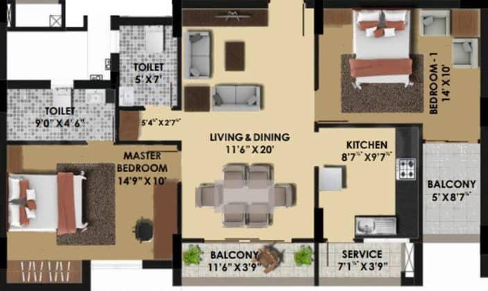 pine-ridge-floor-plan-floor-plan-3928949-703x420 New Apartments Flats in Velachery for Sale