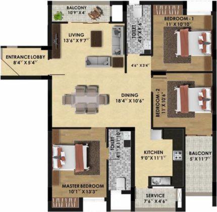 pine-ridge-floor-plan-floor-plan-3928952-430x420 New Apartments Flats in Velachery for Sale