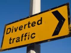 Traffic Diversion in Kamaraj Salai