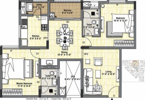 tuxedo-floor-plan-floor-plan-3127337-610x420 New Apartments Flats in Velachery for Sale