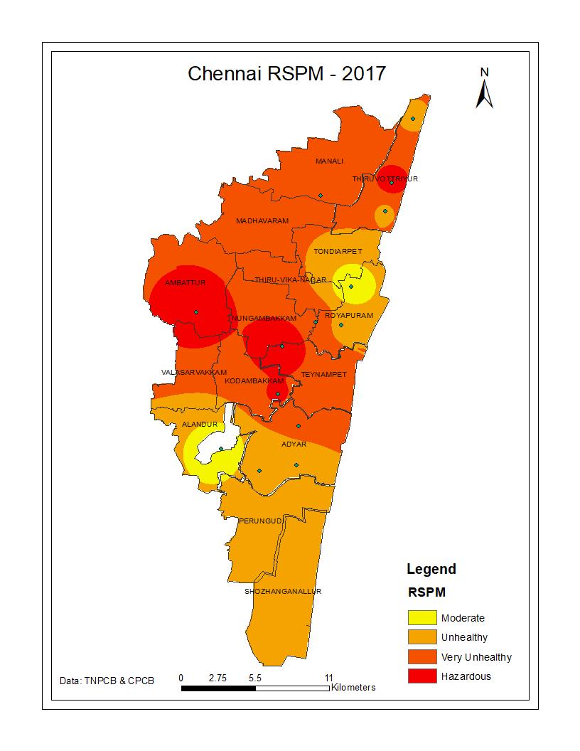MapAirQuality Chennai Air Quality