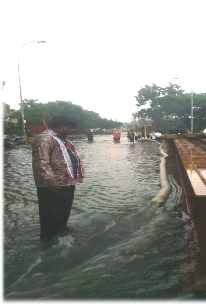 kannan-rountana-flooded Preventing Flooding in Chennai - Best Efforts of Greater Chennai Corporation