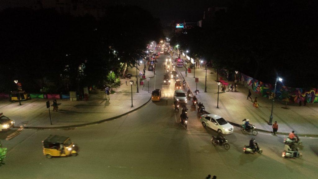 T Nagar Pedestrian Plaza Night View
