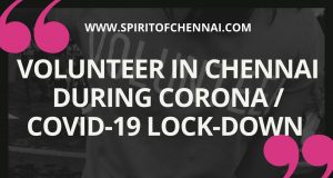 Volunteer in Chennai during Corona
