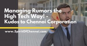 Corona Virus Rumors in Chennai Corporation